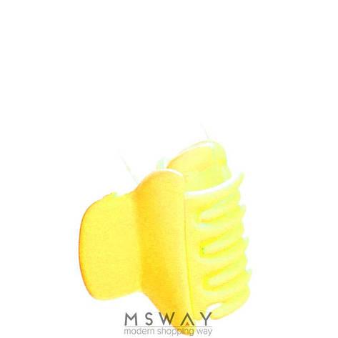 KATTi Краб для волос 28 808 малый цветной карбон Ш2,5 1шт желтый, фото 2