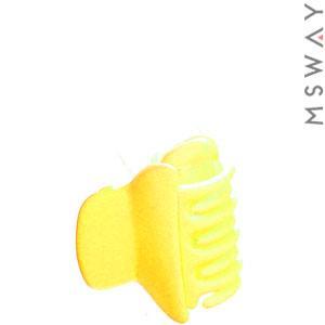 KATTi Краб для волос 28 808 малый цветной карбон Ш2,5 1шт желтый