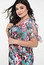 Плаття літнє великого розміру Ольга блакитний, фото 3