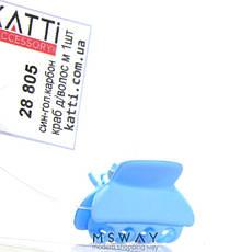 KATTi Краб для волос 28 810 малый цветной карбон Ш2,5 1шт голубая, фото 3