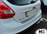 Накладка на бампер Ford Focus III с 2011- (B-F012)