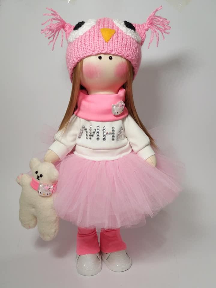 Текстильна інтер'єрна лялька, лялька в подарунок, лялька з іменем