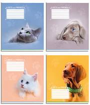 Набор тетрадей 10 штук Полиграфист Коты,Собаки A5 в клетку 12 листов