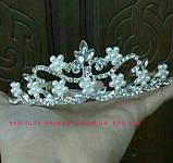 Детская корона, диадема для девочки, высота 4 см., фото 3