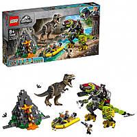 Lego Jurassic World Бой тираннозавра и робота-динозавра 75938