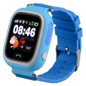 Детские Умные часы с GPS Q90 голубые