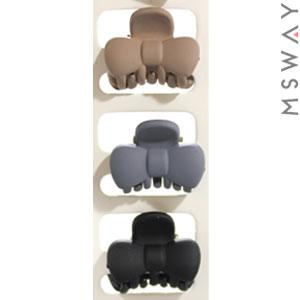 KATTi Краб для волос 28 826 малый карбон бант Ш2,5 (беж, серый, черный) 3шт