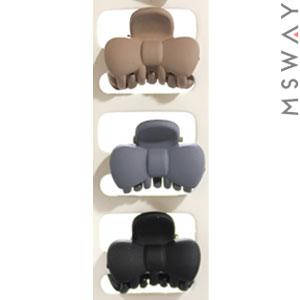 KATTi Краб для волос 28 826 малый карбон бант Ш2,5 (беж, серый, черный) 3шт, фото 2