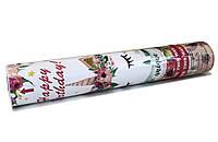 Хлопушка пневматическая Единорог цветы  длина 30 см