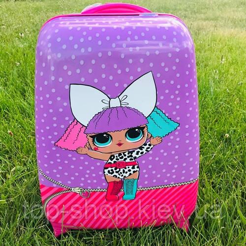 Детский чемодан для девочек на колесах Лол (Lol)