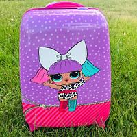 Детский чемодан для девочек на колесах Лол (Lol), фото 1