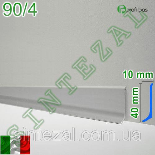 Дизайнерский алюминиевый плинтус Profilpas Metal Line 90