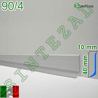 Дизайнерский алюминиевый плинтус Profilpas Metal Line 90, фото 1