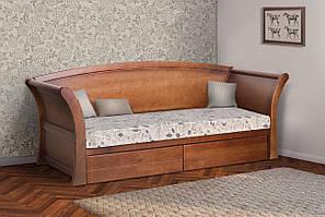 Кровать подростковая Адриатика 80х190 см с ящиками (орех)
