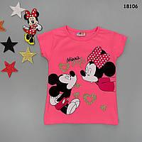 Футболка Mickey&Minnie Mouse для девочки., фото 1