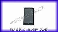 Модуль матрица + тачскрин для Microsoft Lumia 532 DS (Nokia), black, с рамкой