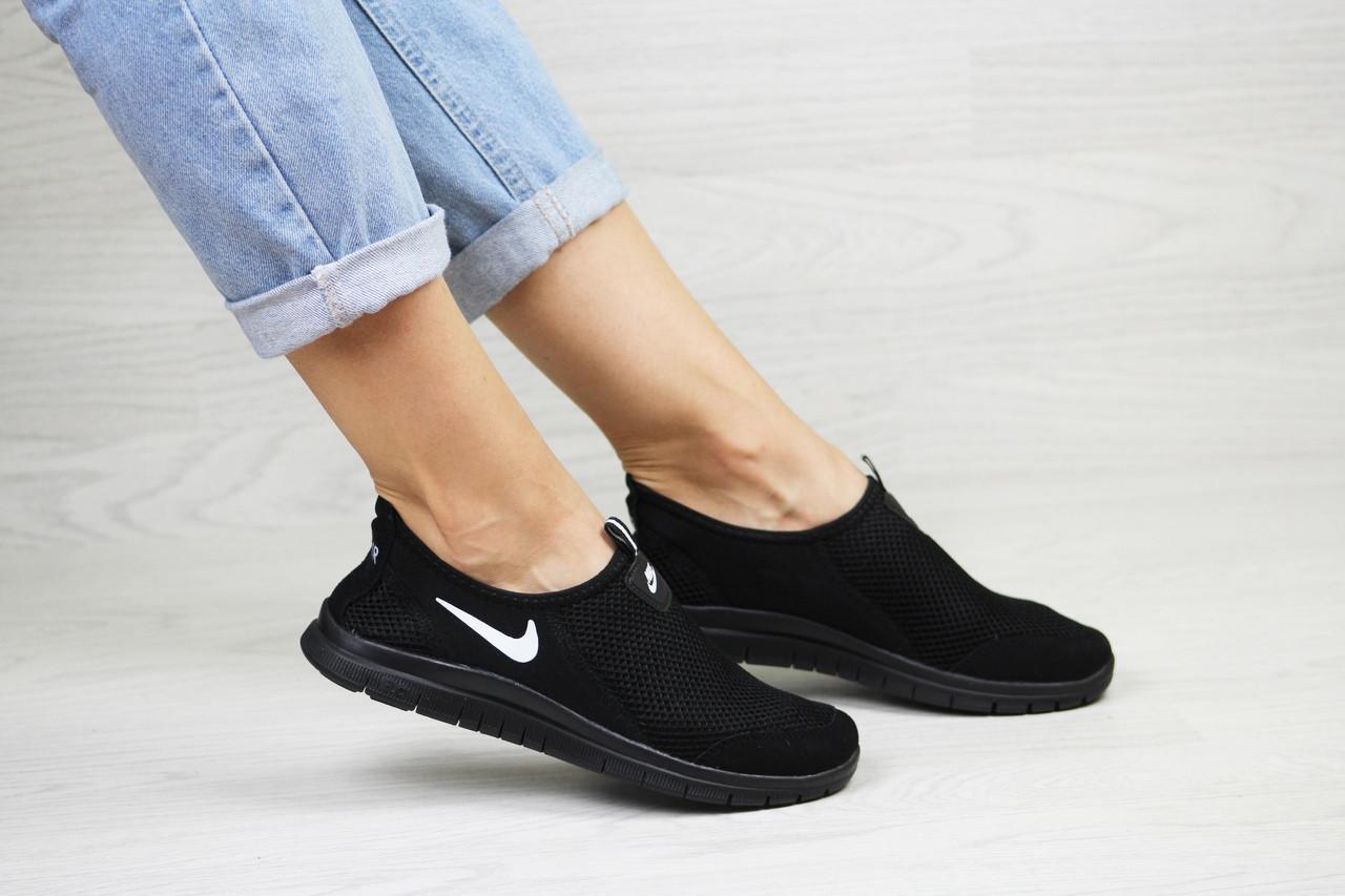 7f0a88e86cc82b Подростковые,женские летние кроссовки Nike Free Run 3.0 черно-белые ...