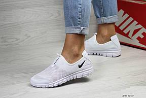 Подростковые,женские летние кроссовки Nike Free Run 3.0 ,белые, фото 3