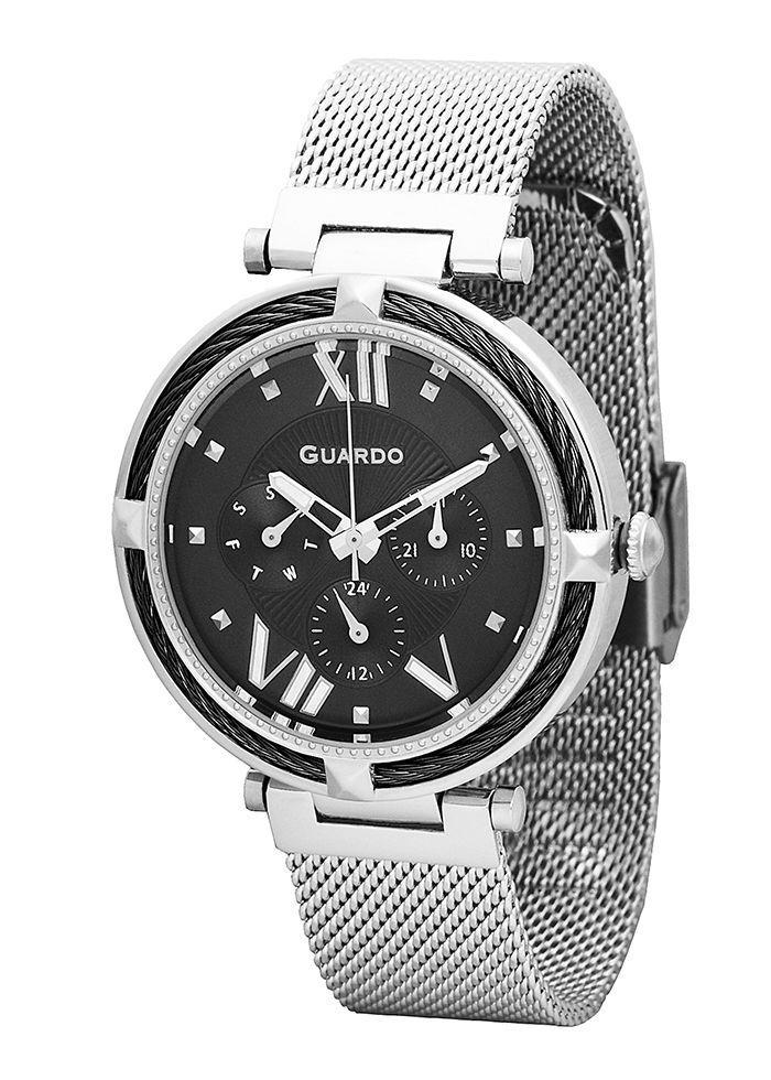 Часы женские Guardo T01030(2)-2 серебряные