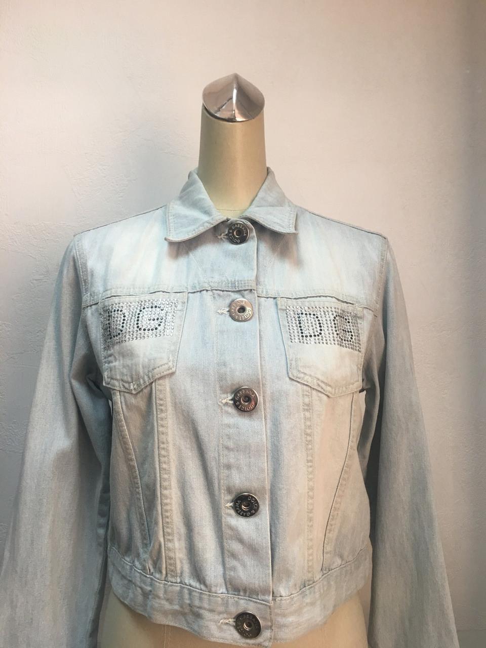 Куртка Dolce&Gabbana женская джинсовая голубая