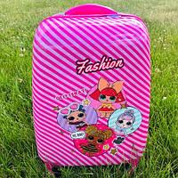 Дорожный детский чемодан на колесах Лол (Lol) на 4 колесах