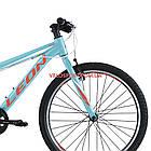 Подростковый велосипед Leon Junior Rigid 24 дюйма бирюзовый, фото 3