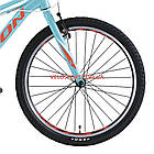 Подростковый велосипед Leon Junior Rigid 24 дюйма бирюзовый, фото 4