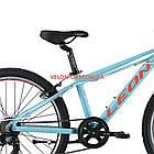 Подростковый велосипед Leon Junior Rigid 24 дюйма бирюзовый, фото 5