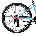 Подростковый велосипед Leon Junior Rigid 24 дюйма бирюзовый, фото 6