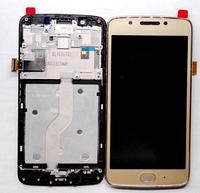 Дисплей (экран) для Motorola XT1670 Moto G5/XT1672/XT1675/XT1676 + тачскрин, золотистый, с передней панелью