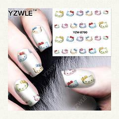 """Наклейки для ногтей """"Hello Kitty"""" YZW-8790"""