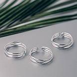 """Серебряное кольцо без вставок с регулируемым размером """"Вдохновение"""", фото 2"""