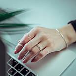 """Серебряное кольцо без вставок с регулируемым размером """"Вдохновение"""", фото 3"""