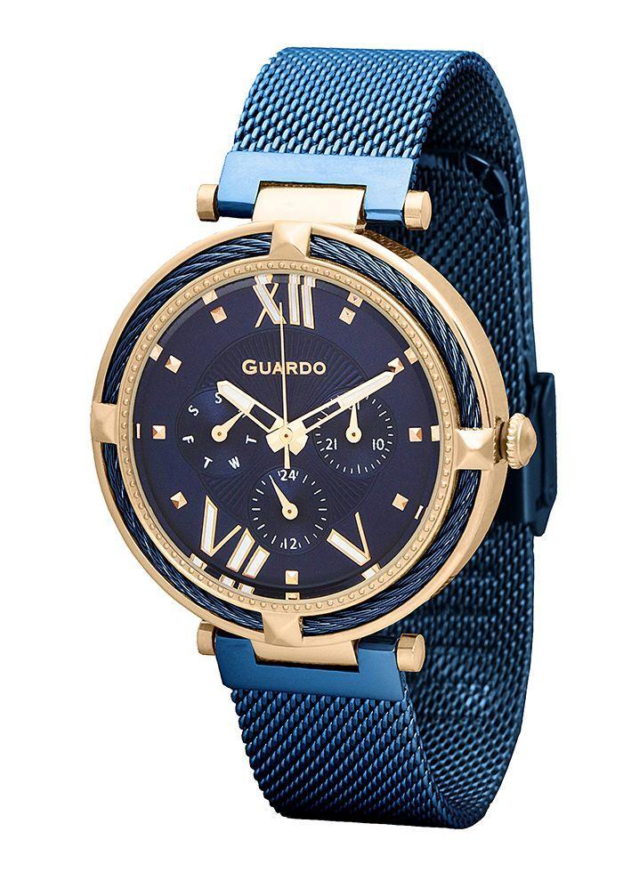Часы женские Guardo T01030(2)-7 золотые