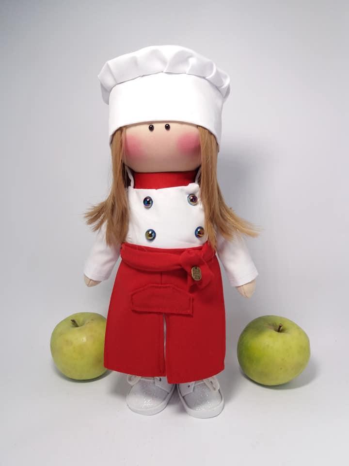 Лялька-повар, текстильна лялька, лялька в подарунок