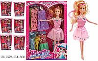 Кукла, микс видов, набор платьев, 9322A