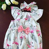 "Песочник для девочки+ афробант "" Фламинго"", фото 1"