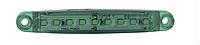 Фонарь габаритный 9 LED вдоль, зеленый YP-117G