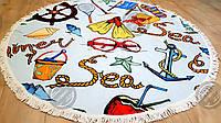 Коврик для пляжа круглый, подстилка Набор для пляжа с бахромой, фото 1