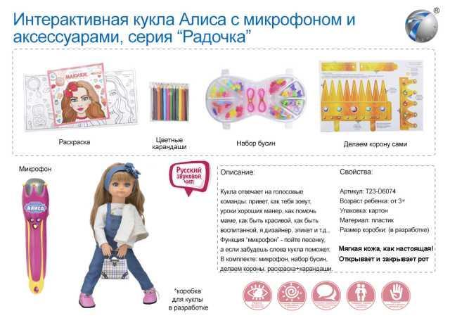 """Кукла интерактивная """"Алиса"""", MY009-9"""