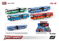 """Модель-автобус """"PLAY SMART"""", металлический, инерционный, 6576D"""