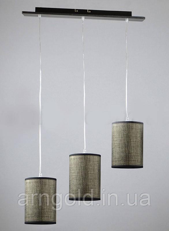 Люстра подвесная на три лампы 1-A0196/3P DK+WT