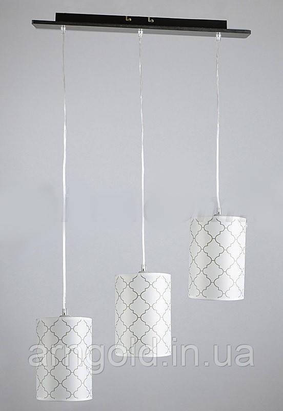Люстра подвесная на три лампы 1-A0191/3P DK+WT