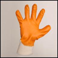 Перчатки трикотажные с част. покрытием нитрила
