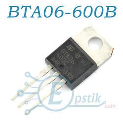BTA06-600B, симистор 600В, 6А, TO220