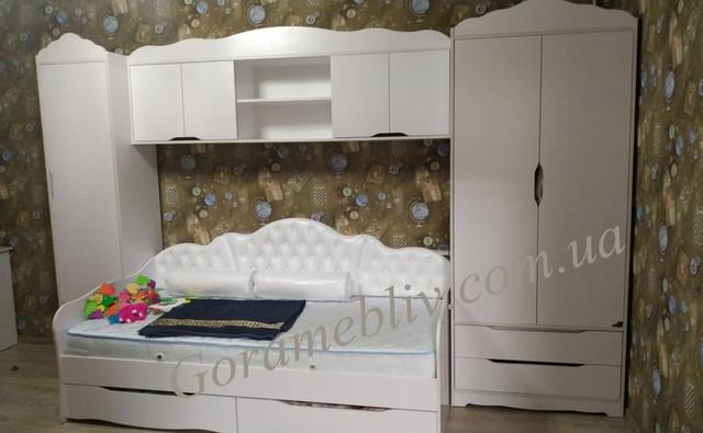 На фото: стенка в детскую комнату белого цвета, фото покупателей