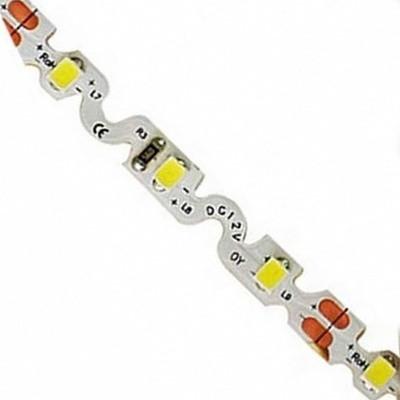 На фото изображена гнущаяся во всех направлениях гибкая светодиодная ЛЕД LED-лента с S-элементами