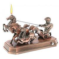 """Зажигалка сувенирная музыкальная - """"Спартанская колесница"""". Настольная, подарочная., фото 1"""