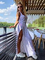 Платье Doratti в пол ажурная вязка с глубоким разрезом разные цвета Smdor3402, фото 1
