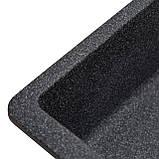 Мойка кухонная Solid Вега Плюс, антрацит (ДхШхГ-420х200х130), фото 4